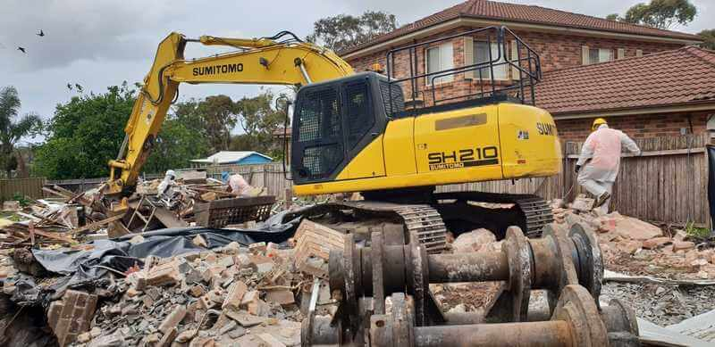 House Demolition Lidcombe Process